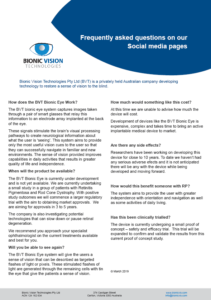FAQ's on our social media channels